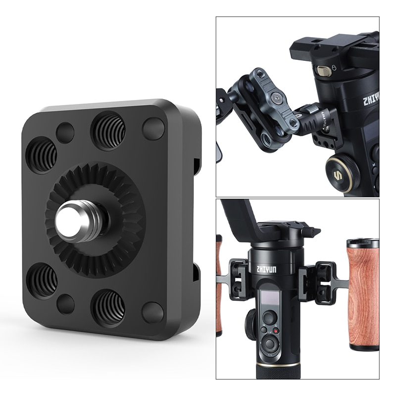 UURig R070 Extend Plate for ZHIYUN Crane 2S Cold Shoe 1/4 Screw Adapter Extend Mount for Magic Arm LED Video Light Micrphone