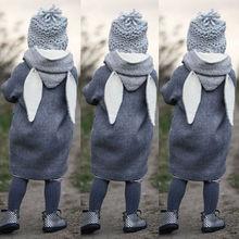 Enfant en bas âge enfant filles automne vêtements garçon vêtements mignon à manches longues lapin oreille à capuche manteau chaud veste Outwear coupe-vent