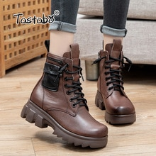 Tastabo Ladies Boots 2021 Fashion Streetwear Ankle Boots for Women Zipper Motorcycle Breathable Foot