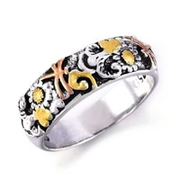 retro carved flower dragonfly ring for womens mens multi size punk hip hop ring jewelry biker finger accessories