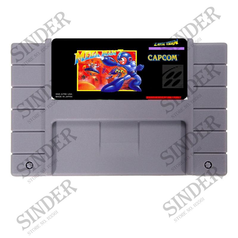 Megaman 7 (Mega hombre VII) 16 poco Súper tarjeta de juego para...
