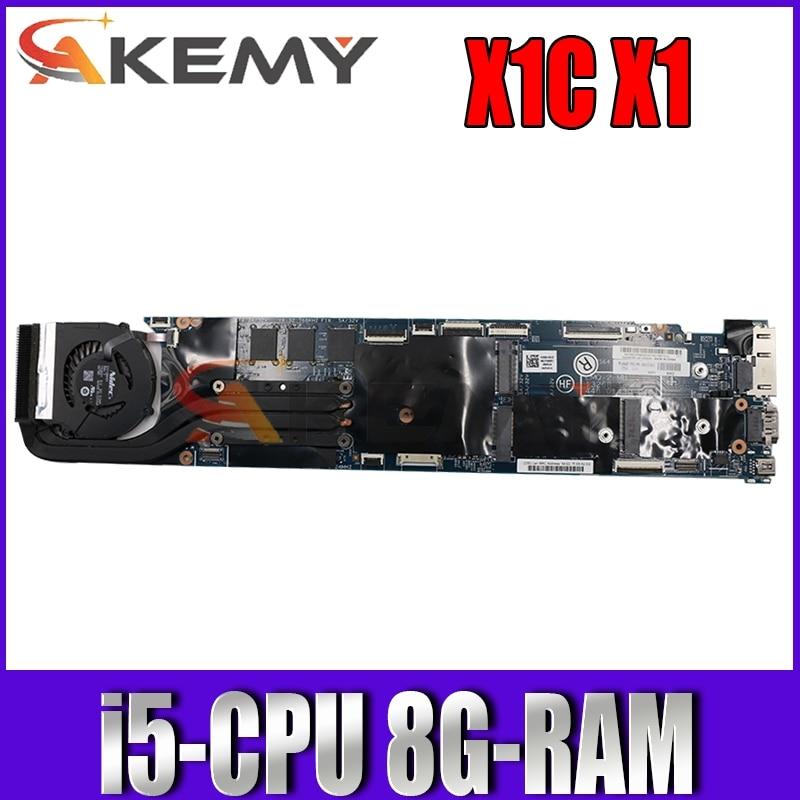 13268-1 448.01430.0011 لينوفو ثينك باد X1C X1 الكربون 2015 اللوحة الأم للكمبيوتر المحمول مع i5 CPU RMA 8G 100% العمل 00HT347 00HT359