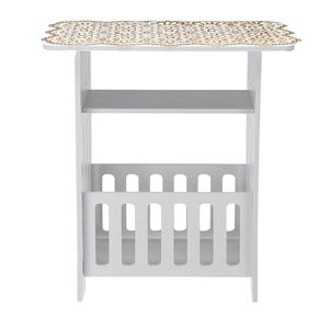 European Style Coffee Table Storage Rack Tea Table for Living Room Cabinet Storage Wood Plastic Board Home Furniture Side Table