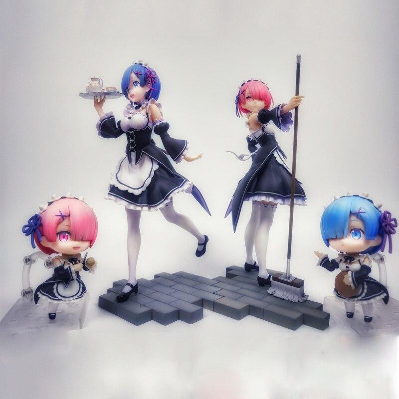 Re: La vida es un mundo diferente de Zero RAM re zero figura de acción de chicas Sexy figura japonesa Anime PVC juguetes de figuras de acción para adultos