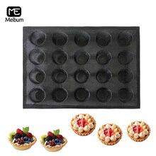 20 Cavity Black Porous Silicone Mold Cake Tart Mini Pizza Modle Round Shape Bread Hamburger Mould Non Stick Bakeware Tool