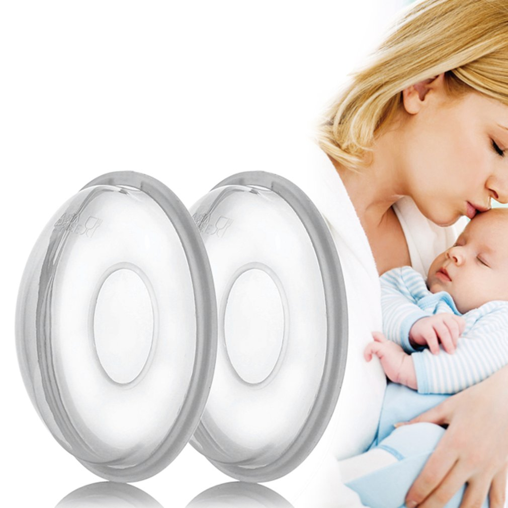 Breast milk collector for baby, 2 pieces, silica gel cover for baby feeding,postpartum nipple suction container, nursing pad 1 pair silica gel collection cover baby feeding breast milk collector soft postpartum suction container reusable nursing pad