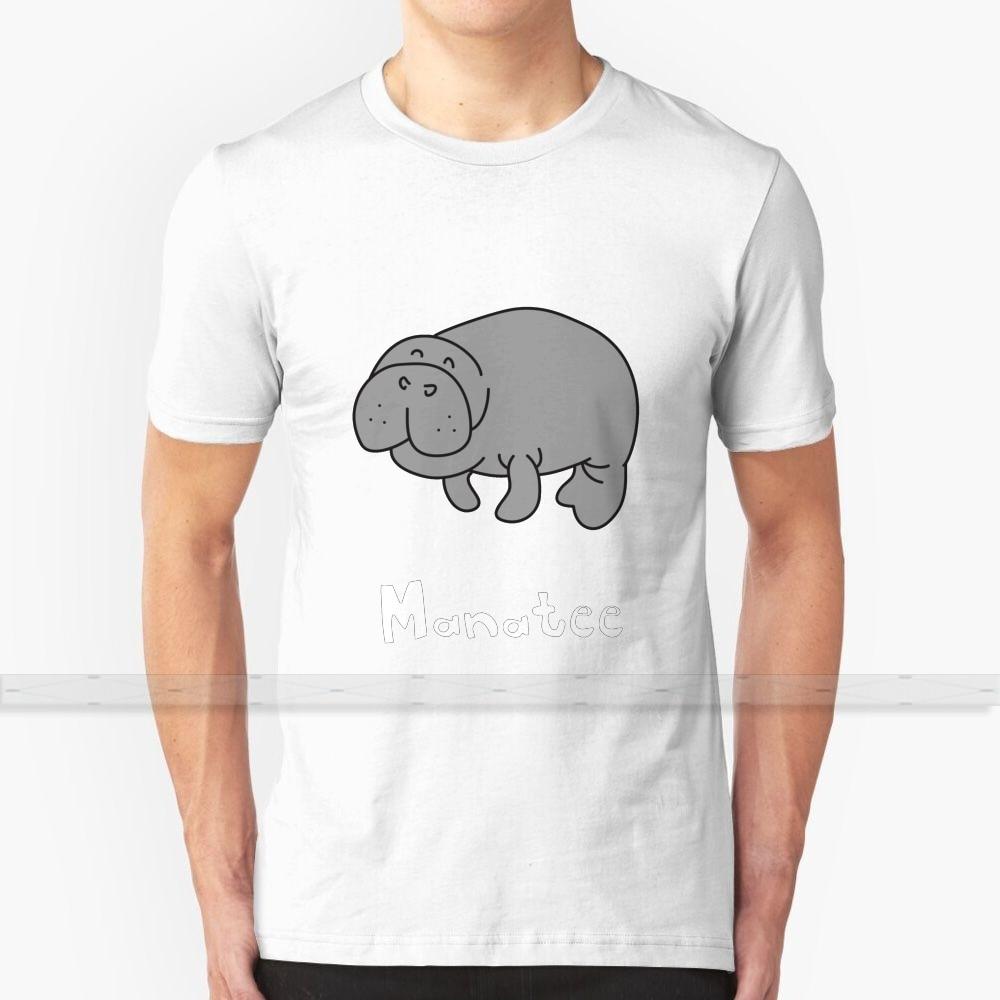 M para Manatí, diseño personalizado, impresión para hombres y mujeres, nueva camiseta fresca de algodón, tamaño grande, 6xl, Manatí, mar, sello de morsa