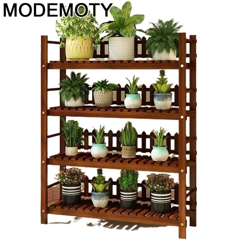 Деревянный стеллаж для растений, стеллаж для цветов, садовые полки для растений, декоративная полка, уличная подставка для цветов
