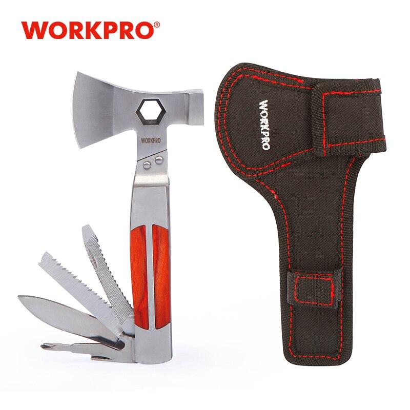 WORKPRO 12 في 1 أدوات متعددة الفأس الثقيلة الفأس التوأم/مطرقة جيب أداة متعددة الوظائف
