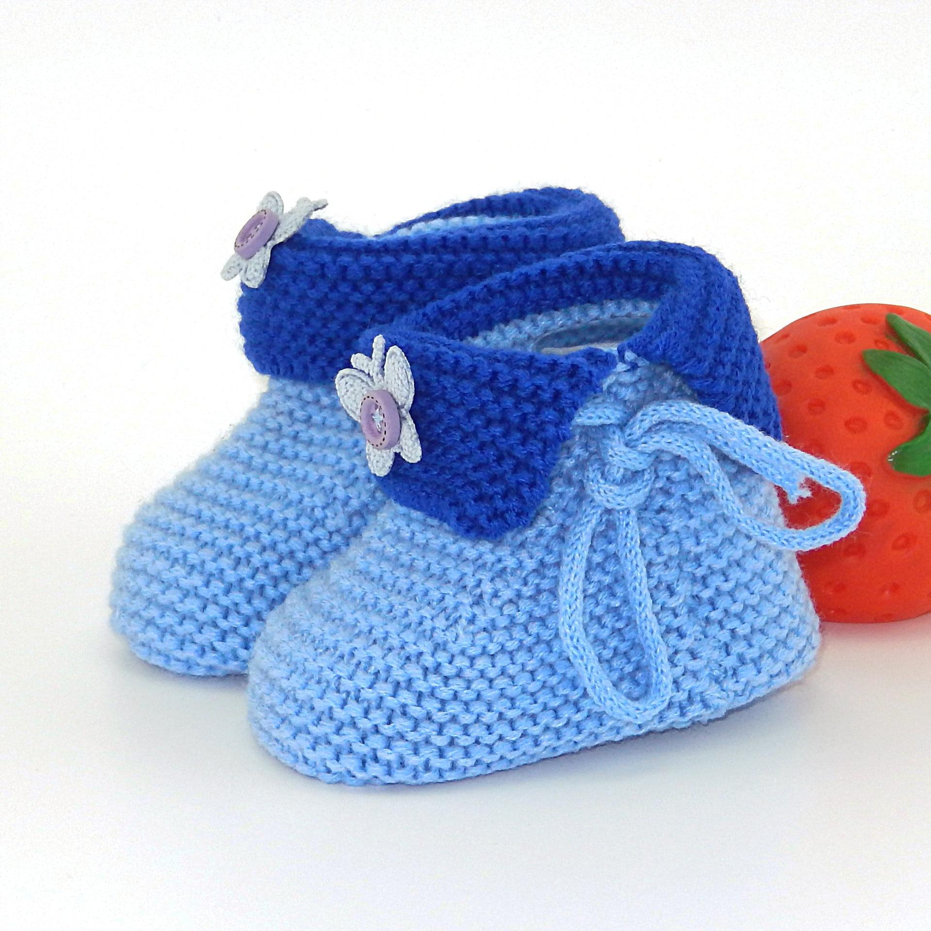 DOGEEK Unisex recién nacido primeros caminantes zapatos para bebé bonitos niña niño calcetín de punto hecho a mano zapatos de bebés pequeños 0-18 meses