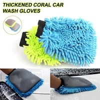 dropshipping chenille car wash mitt gloves soft absorbent car cleaner detail brush for auto cleaning clean washing detailing
