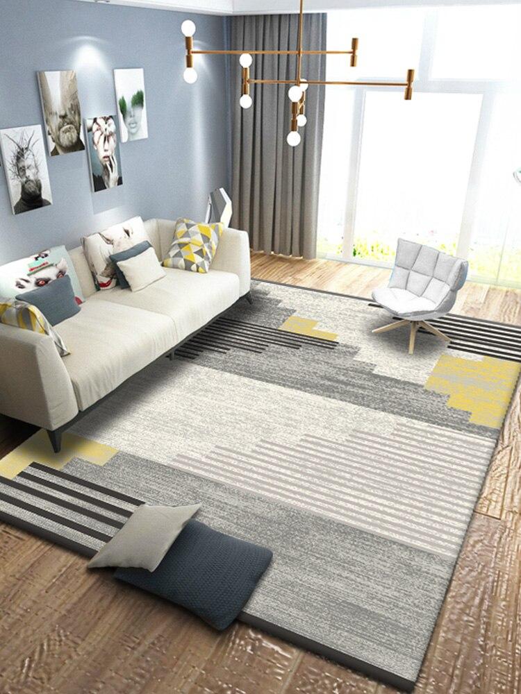 السجاد Ins نمط طاولة القهوة لغرفة المعيشة بطانية النمط الأوروبي نوم السرير الوسائد الهندسة مستطيل البساط منطقة البساط كبير