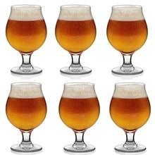 Hellodream classique bière verre transparent bière boire pour maison cuisine pub ,16.9 oz, lot de 6