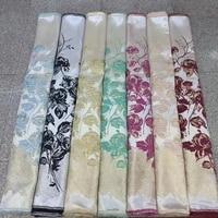 2019 latest gold lace design brocade lace fabrics 5 yardspcs jacquard lace fabrics organza fabrics for wedding dress material