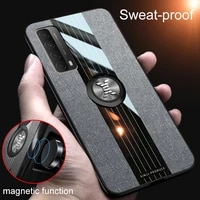 for huawei p smart2021 cloth cover for huawei p40 lite 5g p40 pro plus p30 p20 shockproof case magnetic ring holder