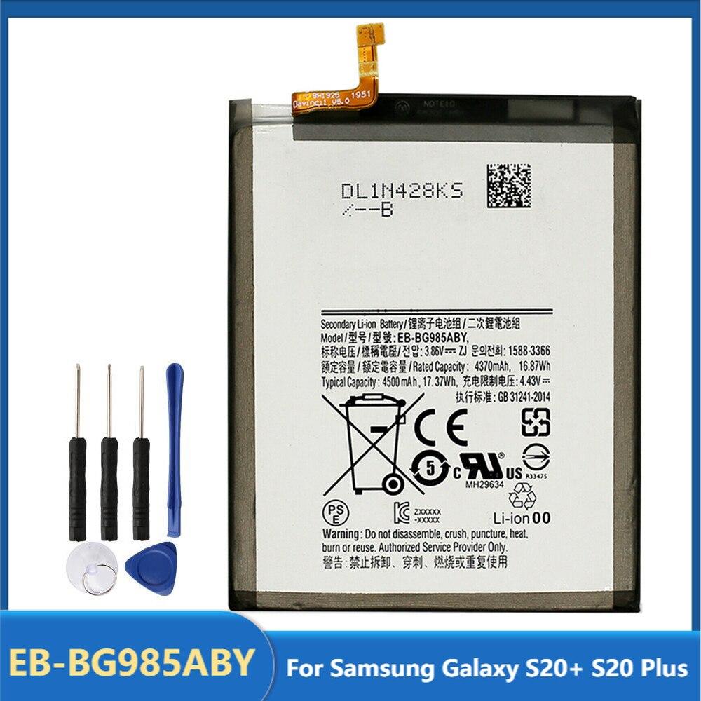 Оригинальная запасная аккумуляторная батарея для телефона Samsung Galaxy S20 + S20 Plus, аккумуляторные батареи 4500 мАч с бесплатными инструментами