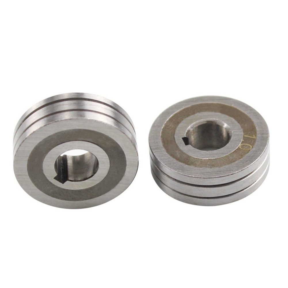 Купить с кэшбэком 2pcs Knurled Groove V Groove Steel 2PCS Mig Welding Machine Wire Feed Roller Parts Very Easy To Use High Quality