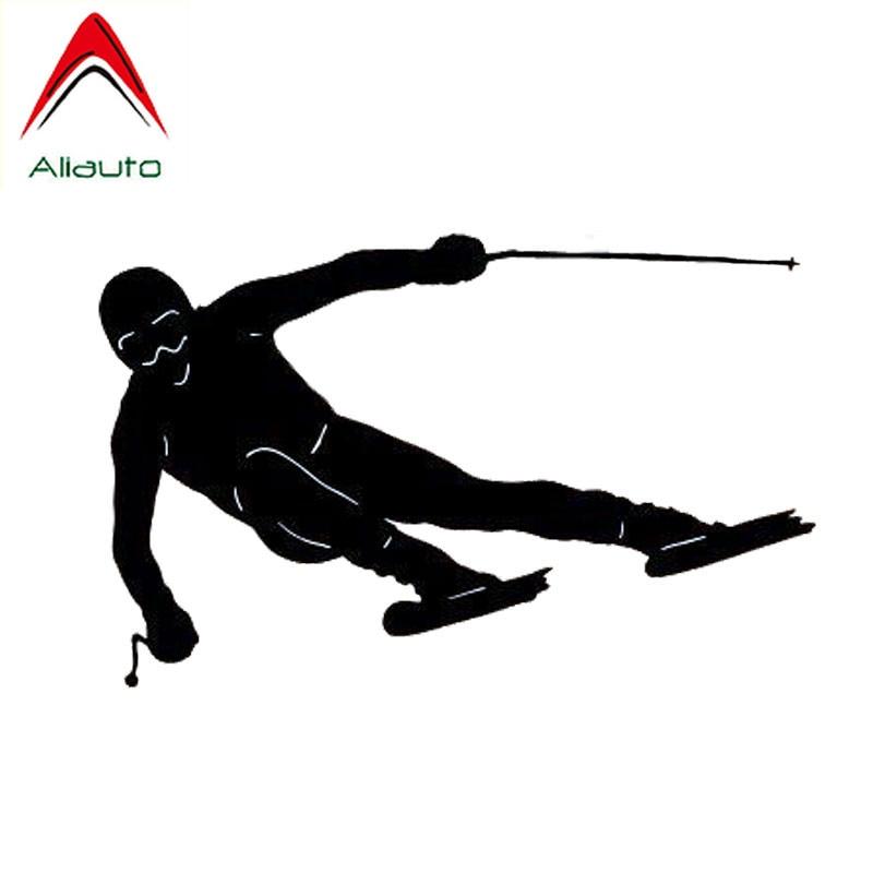 Модные автомобильные наклейки Aliauto, автомобильные Стайлинг, двойная доска для лыжных видов спорта, виниловая Солнцезащитная антиуф-наклейк...