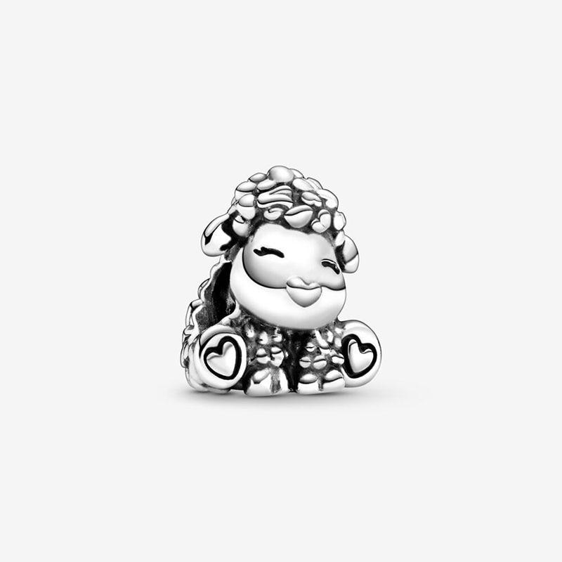 2020 nova moda 925 prata esterlina contas patti the sheep encantos caber pulseira pandora original feminino jóias diy