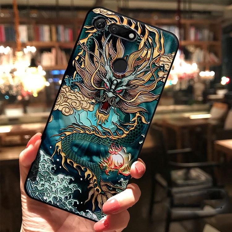 Для Huawei Honor V30 V20 30 30S 20 Pro View V10 V9 10 Lite 9i 9X 8X 8 7C Magic 2 Чехол рельефный 3D рельефный мягкий чехол с защитой от царапин