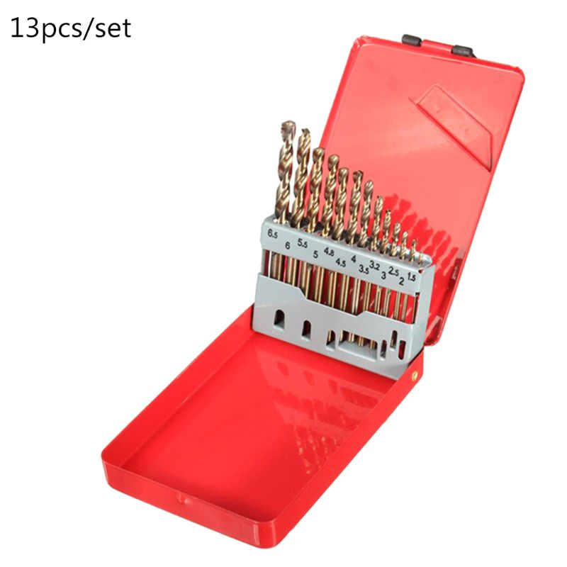 13 pces metric m35 hss conjunto de broca de torção multiuso com índice de metal caso sortido para perfuração e polimento de madeira