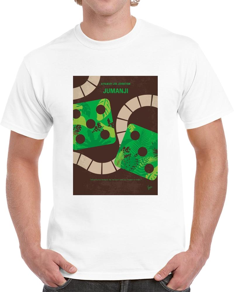 Hombres camiseta minimalista Jumanji camiseta con cartel de película camiseta mujer camiseta