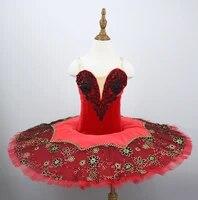 adult black red professional ballet tutu costume kitri don quixote ballet tutus skirt classical ballerina stage costume kids