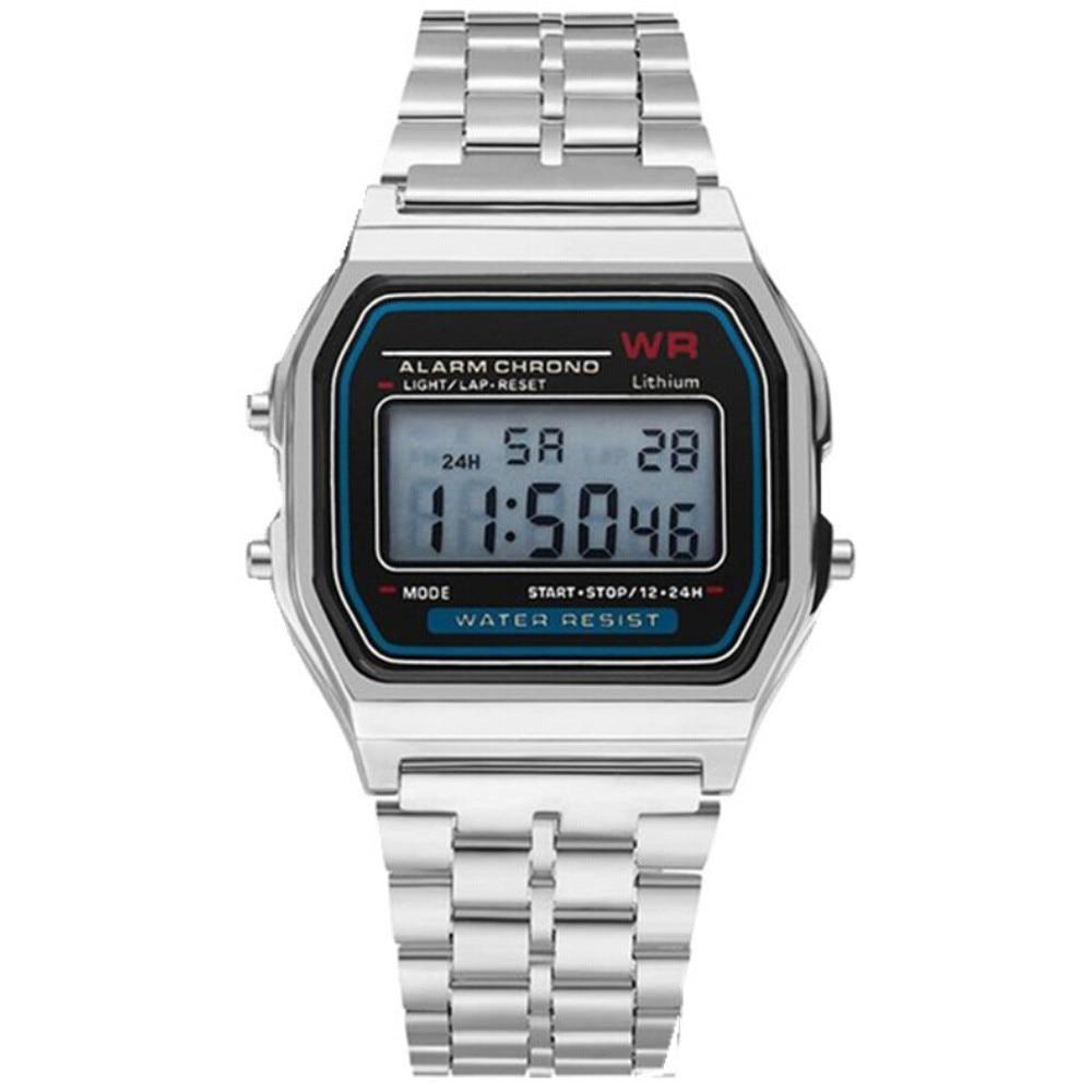 часы мужские 2021 New Led Digital Waterproof Quartz Wrist Watch Dress Golden Wrist Watch
