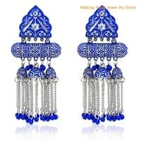 european and american fashion tassel earrings bohemian alloy personalized earrings tassel drop dangle jewelry for women