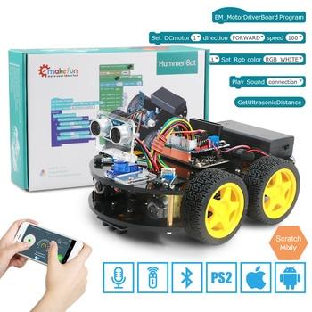 Emakefun – Robot 4x4 pour Arduino, Kit d'apprentissage de la robotique, télécommande, Bluetooth, jouets Stem éducatifs pour enfants