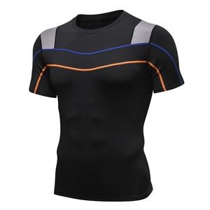 Summer Rashgard Sport Shirt Men Fitness Tight Running T Shirts Breathable Bodybuilding tshirt Gym Workout Top Jogging Sportswear