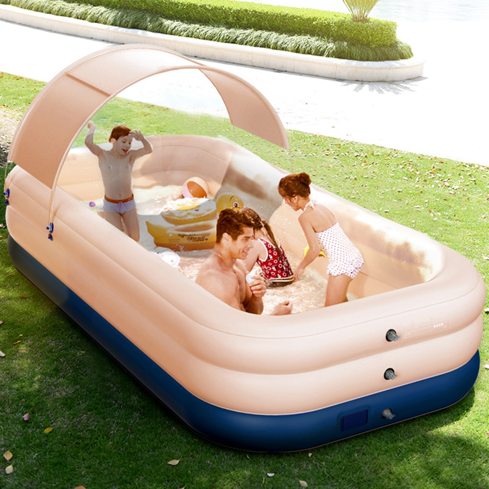 210CM 3 Layer Automatic Inflatable Swimming Pool Removable Children's Pools Ocean Ball PVC Thick Kid Bath Large pools for family