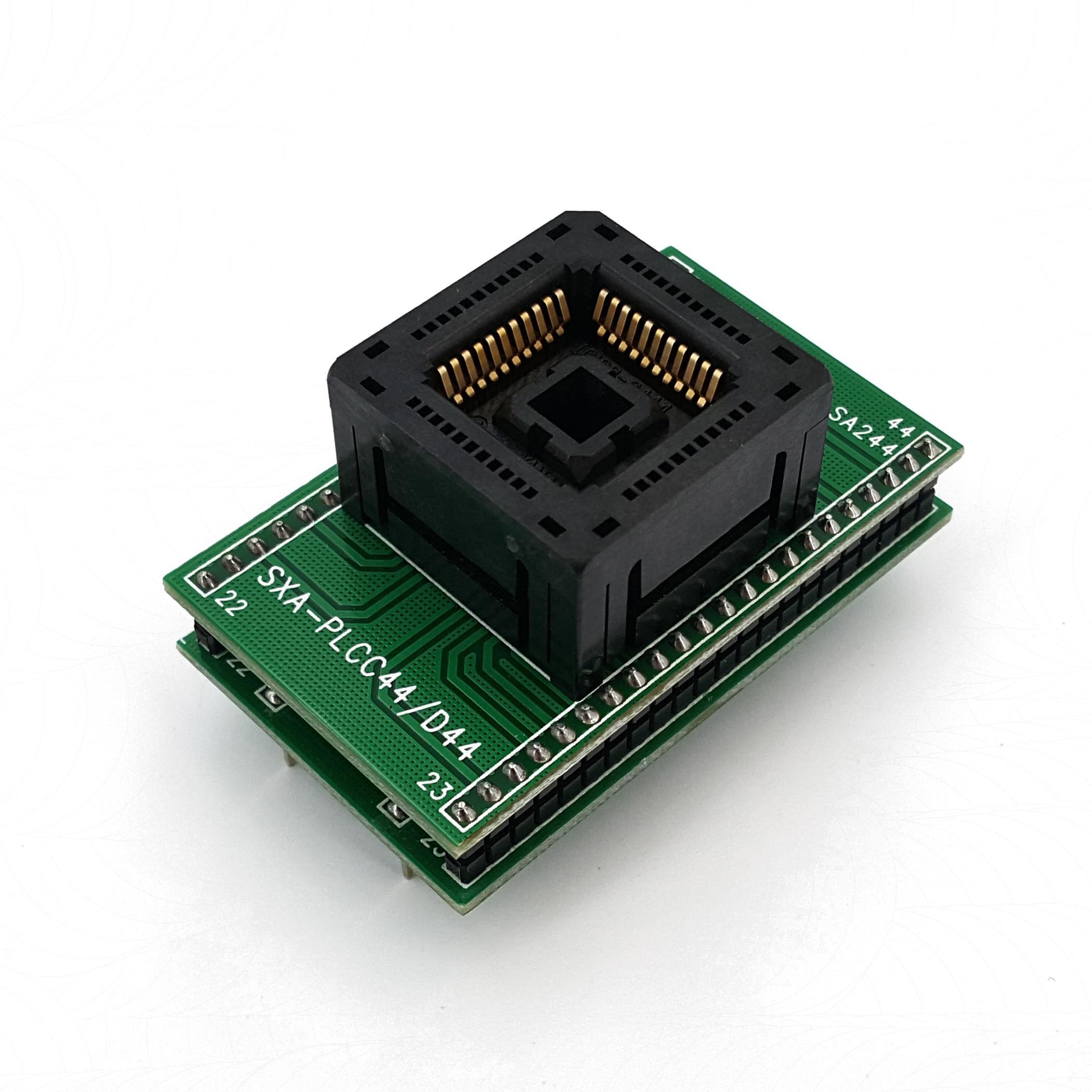 PLCC44 Para DIP44 Pitch 1.27 milímetros IC120-0444 Chip Programador Adaptador IC Socket Test
