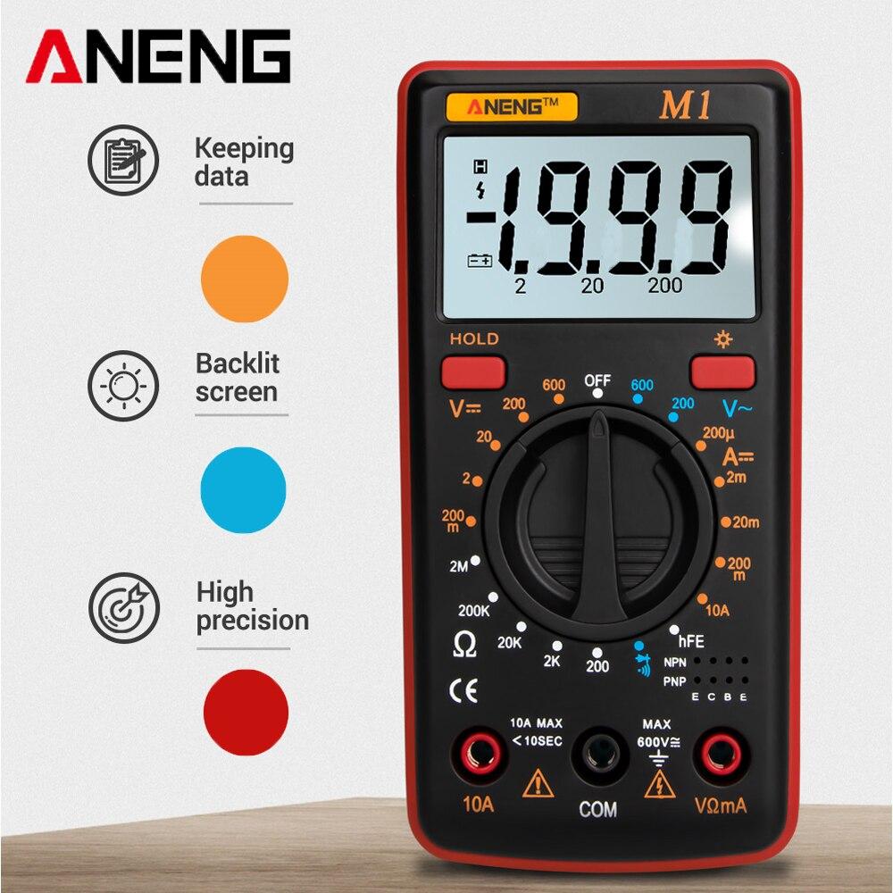 Multímetro Digital ANENG M1 medidor Esr multímetro probador de valores eficaces verdaderos multímetro Digital probadores multímetro Richmeters Dmm 400a 10A
