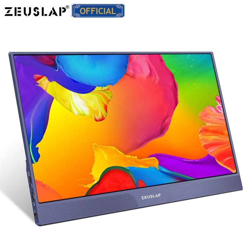 ZEUSLAP 15.6 بوصة 1080P FHD IPS USB نوع C HDMI متوافق مع الألعاب المحمولة رصد للتبديل PS4 ماك بوك برو سامسونج S21 نوت 10
