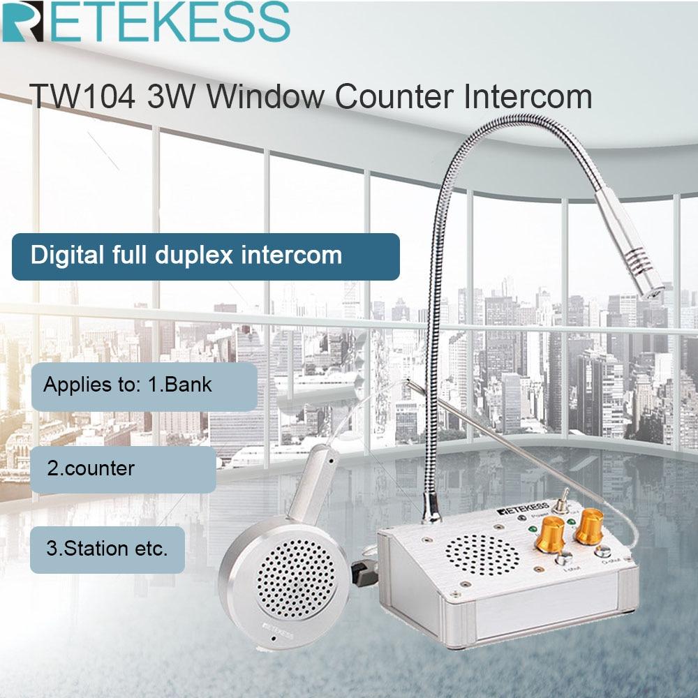 RETEKESS TW104 счетчик окна Интерком 3 Вт цифровой полный дуплекс счетчик Голосовая система для ресторана банка офисный обеденный зал