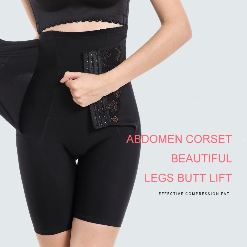 2020 Womens Firm Tummy Control Butt Lifter Shapewear High Waist Trainer Body Shaper Shorts Thigh Slim Girdle Panties with Hook enlarge