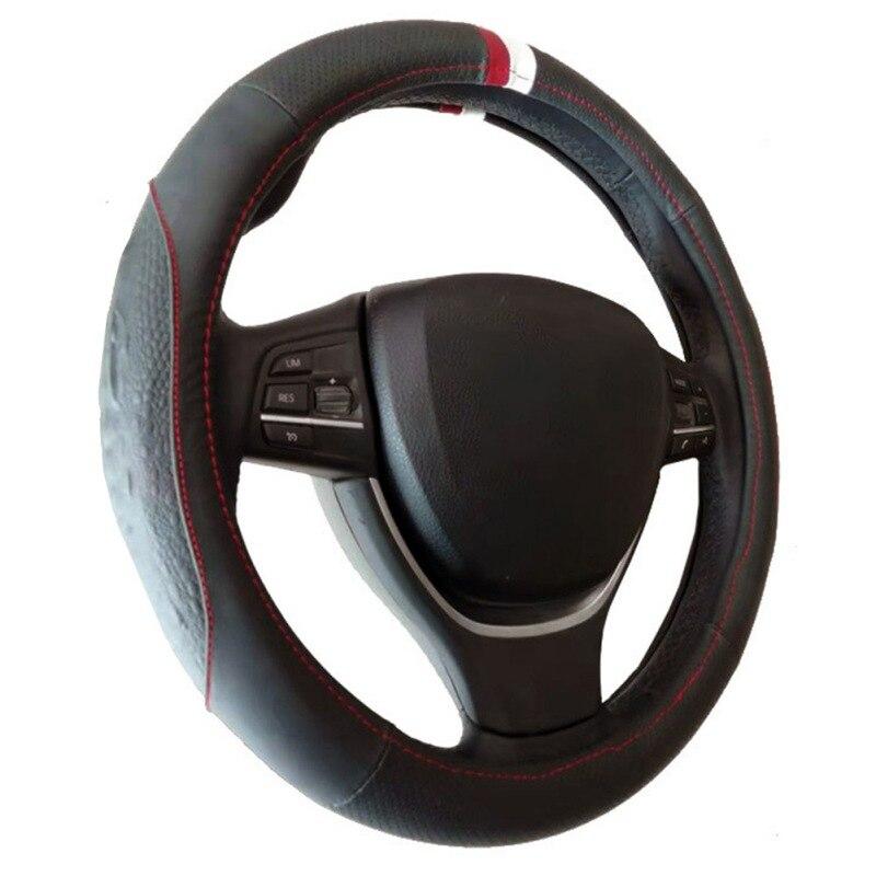38cm protector para volante de Coche capa de la cabeza de cuero...