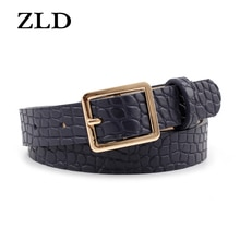 ZLD New fashion crocodile pattern Belt female Alloy classic pin buckle belts All-match ladies casual