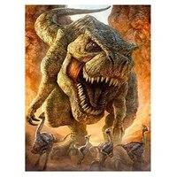 Peinture diamant theme grand dinosaure  broderie 5D bricolage-meme  avec strass ronds  mosaique  decoration dinterieur  soldes  XN1386
