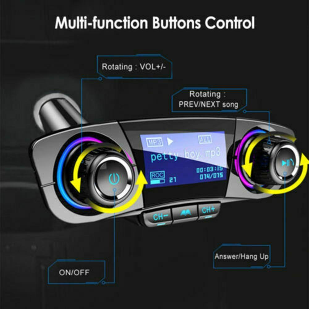 Bluetooth Auto FM Transmitter 87,5-108Mhz MP3 Player Hände Freies Radio Adapter Kit