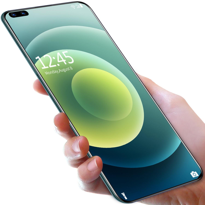 الهاتف الذكي Mate40 Pro + HUAWE الإصدار العالمي 7.3 12GB 512GBInch شاشة كاملة معالج عشاري النواة 6000mAh 4G LTE 5G شبكة الهاتف المحمول