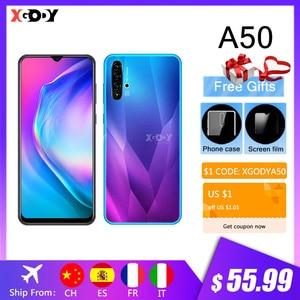 XGODY A50 смартфон с 6,5-дюймовым дисплеем, четырёхъядерным процессором 19:9, Android 9,0, ОЗУ 1 ГБ, ПЗУ 4 Гб, 5 Мп