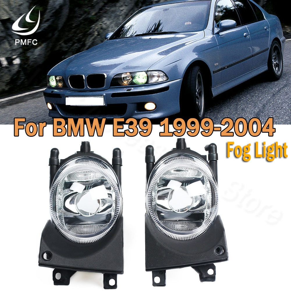 PMFC Fog Lamp Left Right Car Front Fog Light Without Bulbs Replacement Kit For BMW E39 1999-2004 200