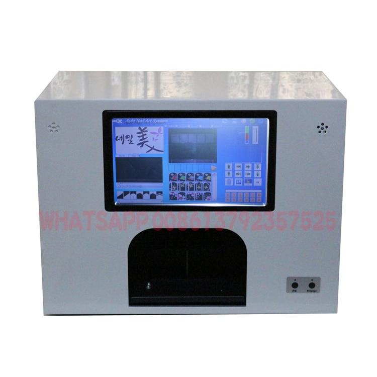 Computer and screen build in CE approved 5 nails printer  flowers printer nail art equipment flower art enuipment