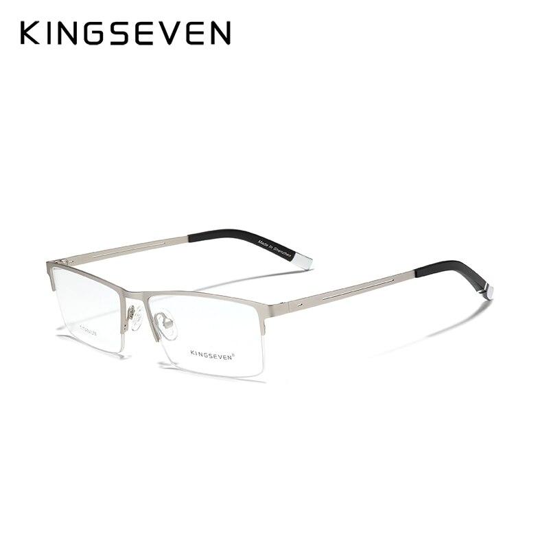 KINGSEVEN Titanium Alloy Optical Glasses Frame Men 2020 Square Myopia Support Custom Prescription Le