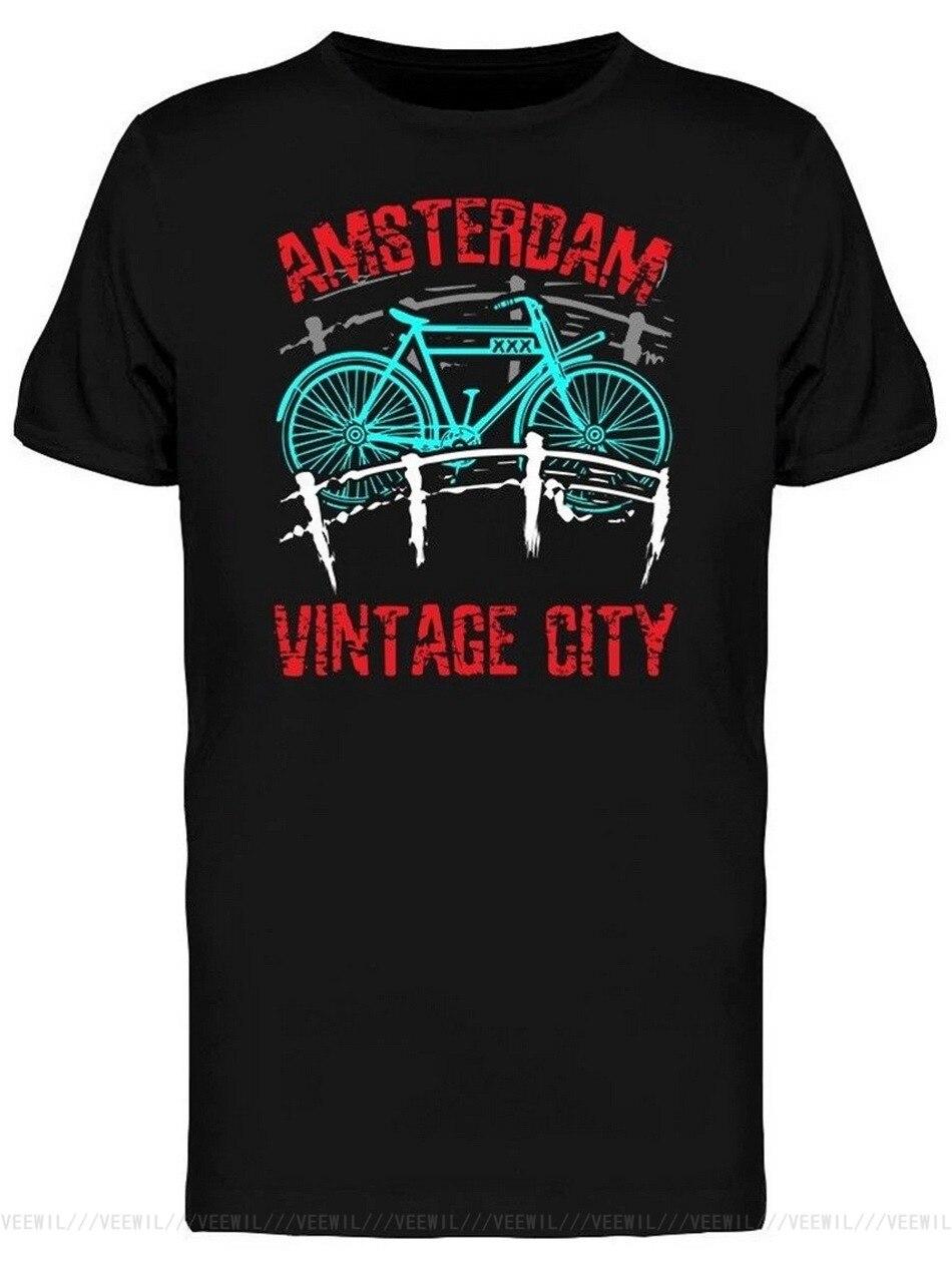 Camiseta Vintage de ciudad para hombre, camiseta de alta calidad