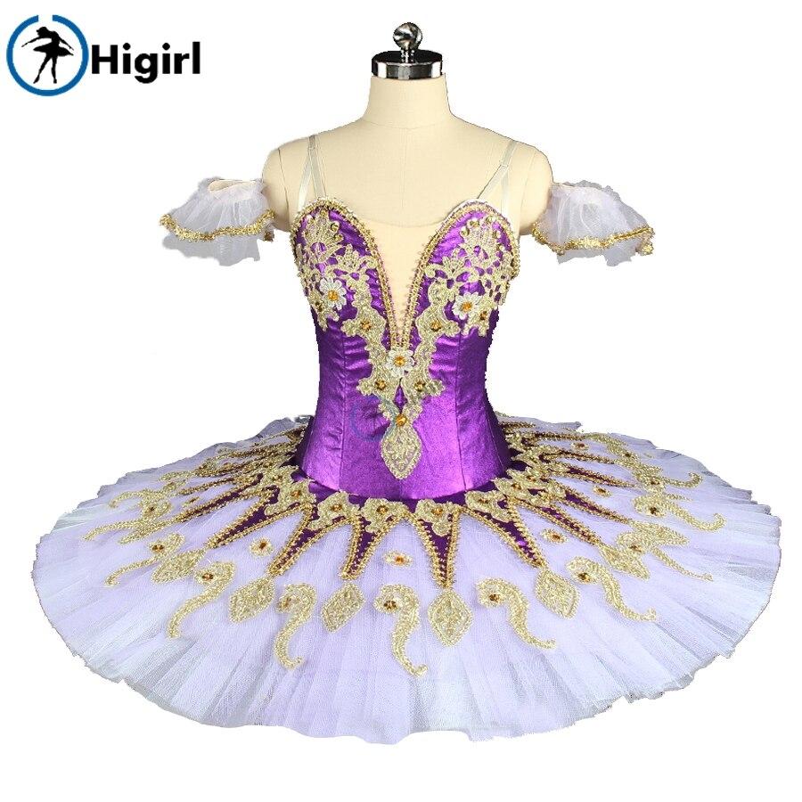 Púrpura vestido de tutú para Ballet traje profesional traje disfraz de Traje de Ballet gran oferta trajes dressBT9134F