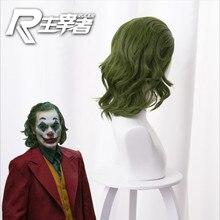 Joker Origin Movie Clown Joker Wig Cosplay Costume Joaquin Phoenix Arthur Fleck Curly Green Heat Res