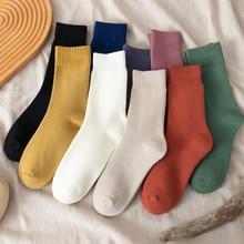 Frauen Socken Baumwolle Cozy Atmungsaktive Winter Verdicken Warme Socken Mädchen Süßigkeiten Farbe Einfache Art Und Weise Beiläufige Socken Thermische Skarpetki